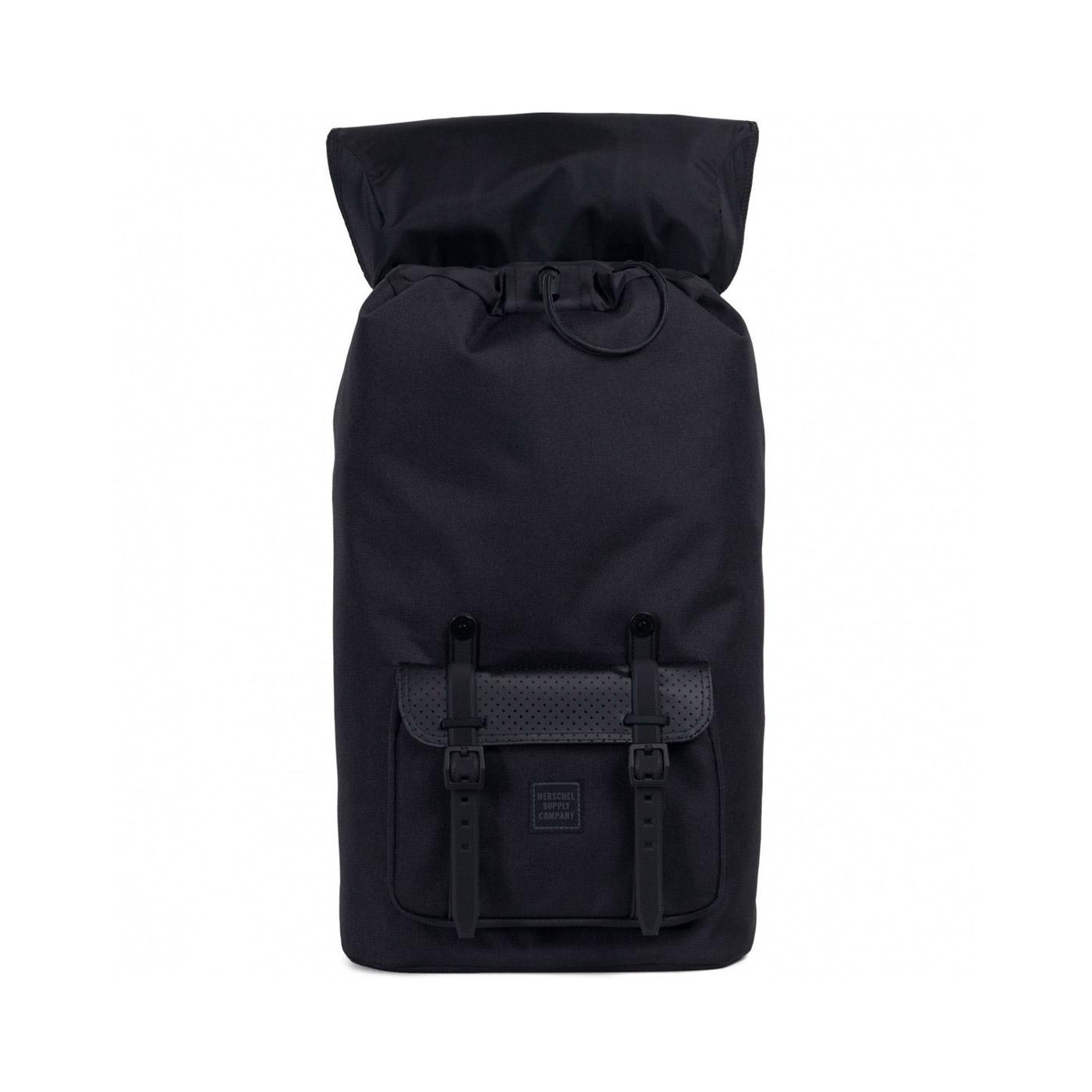 Herschel Little America Backpack Black Open