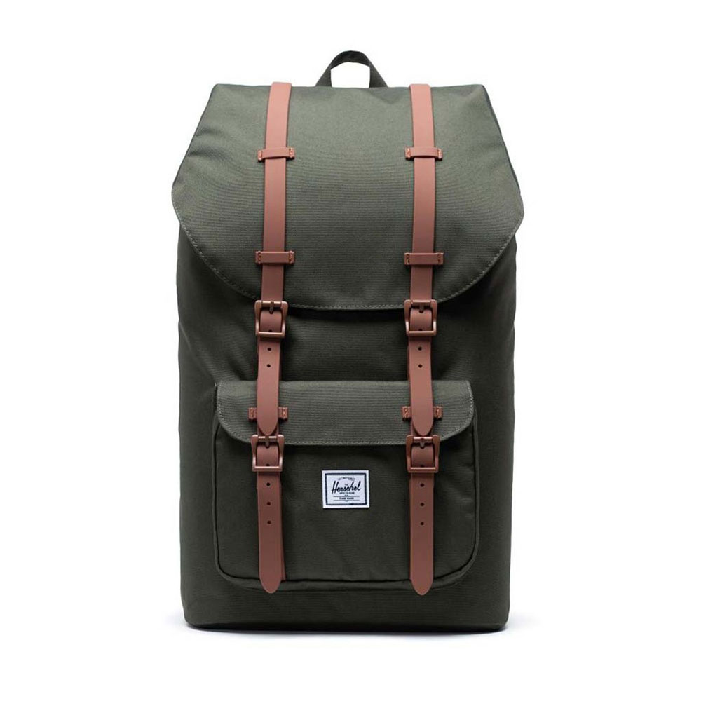 Herschel Little America Dark Olive/Saddle Brown Backpack