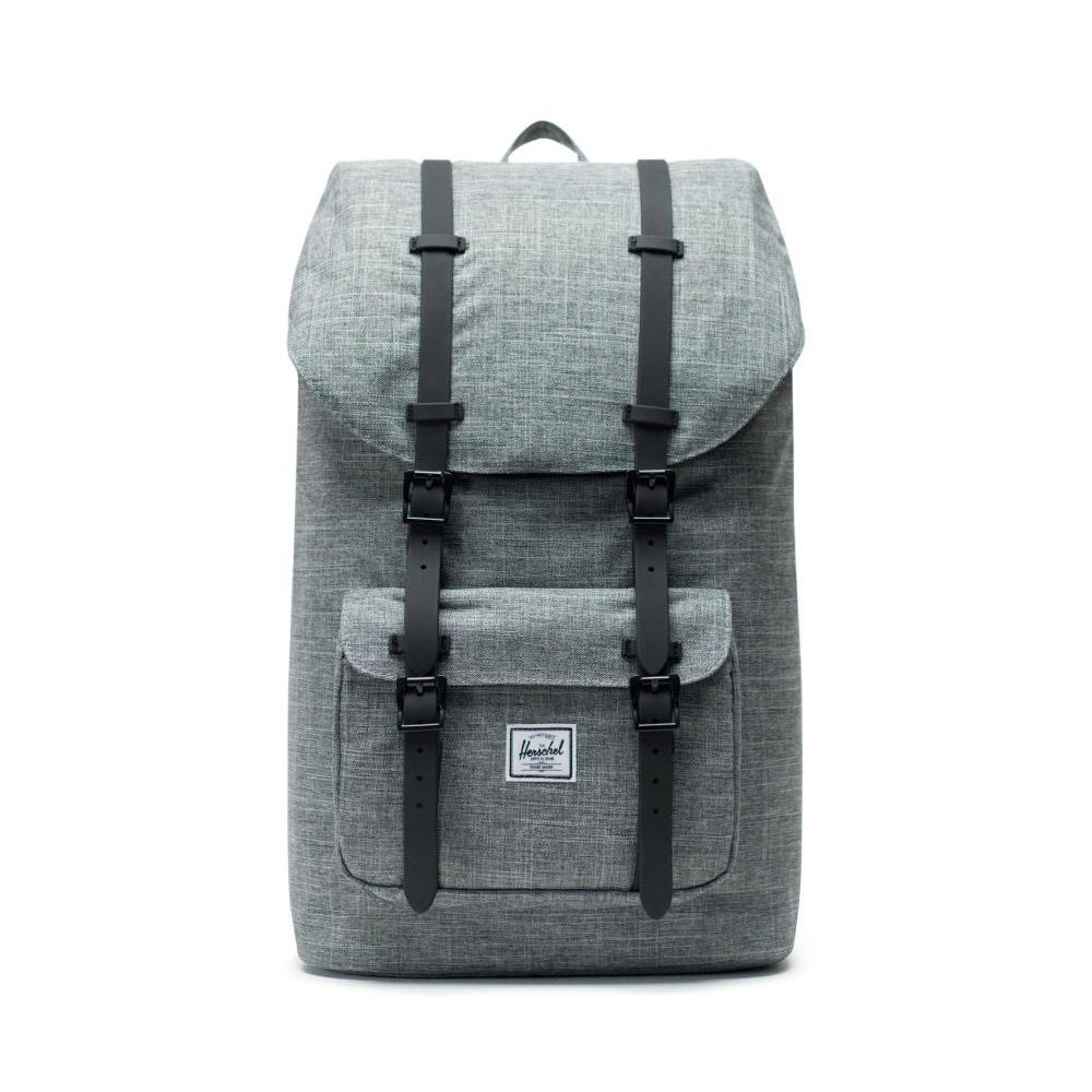Herschel Raven Crosshatch Little America Backpack 25L