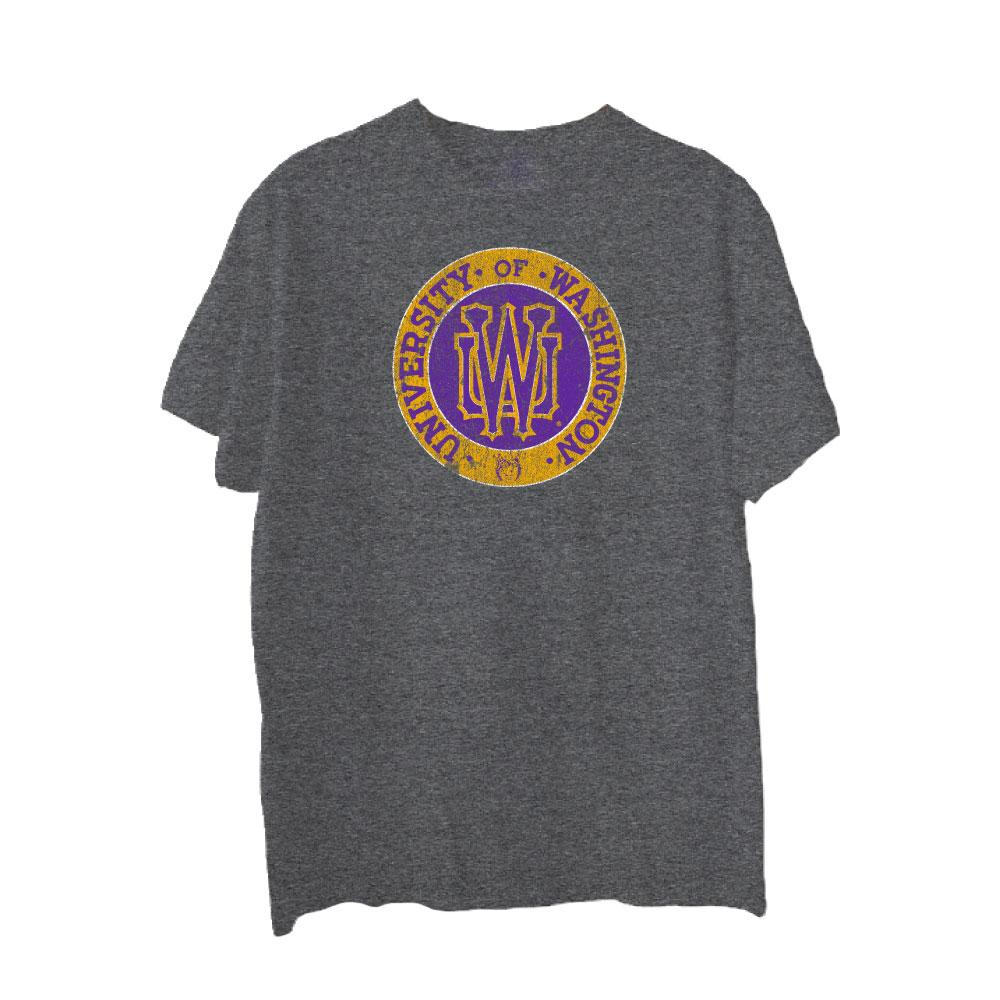 Husky Throwback Men's UW Circle Triblend Tee