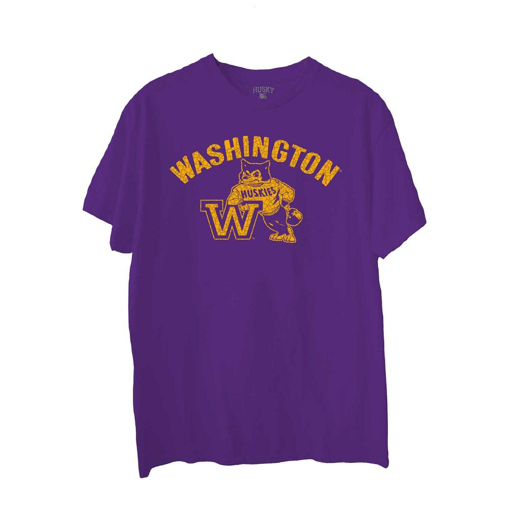 Husky Throwback Men's Washington W Reserve Vintage Tee – Purple