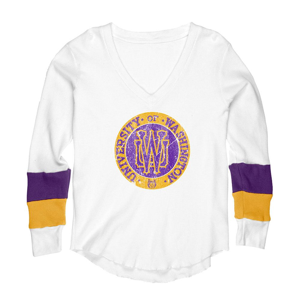 Husky Throwback Women's UW Circle Reserve Vintage Thermal