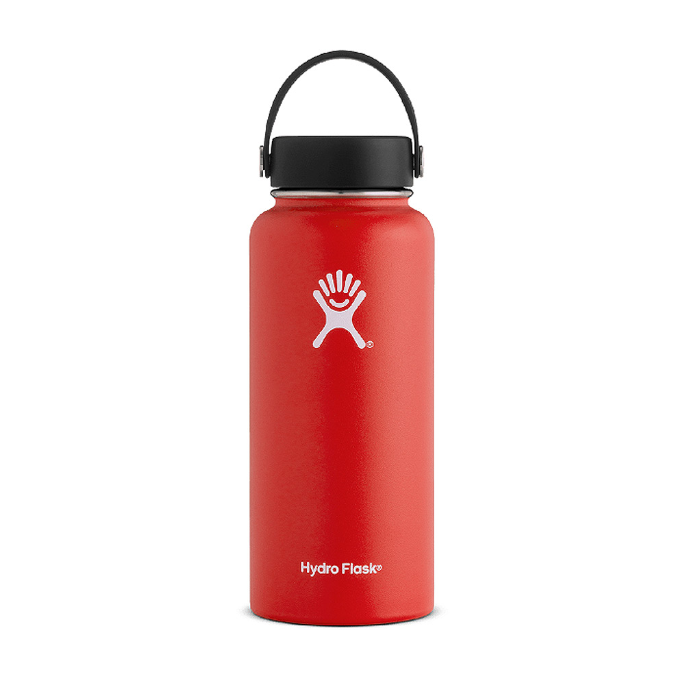 Hydro Flask Wide Mouth Water Bottle 32oz Lava