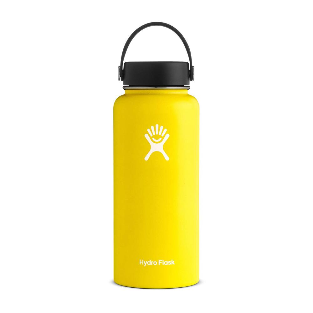 Hydro Flask Wide Mouth Water Bottle 32oz Lemon