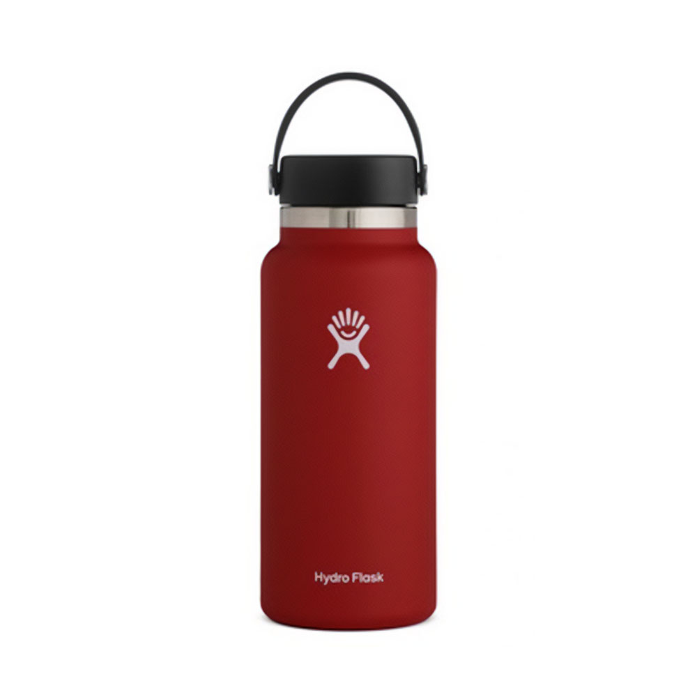 Hydro Flask Wide Mouth Water Bottle 32oz Lychee Red
