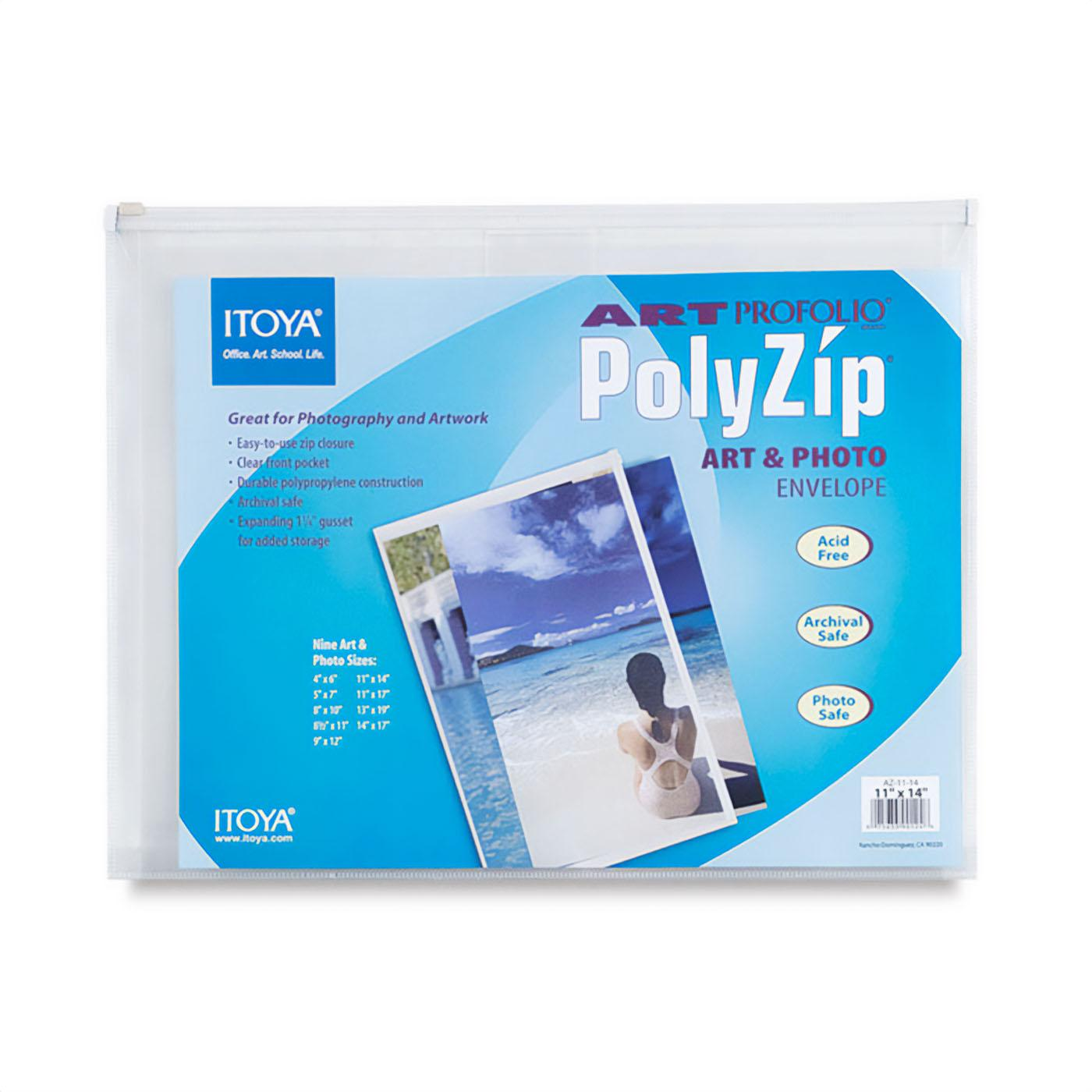 Itoya Art Portolio PolyZip Envelope – Dimension 11x14