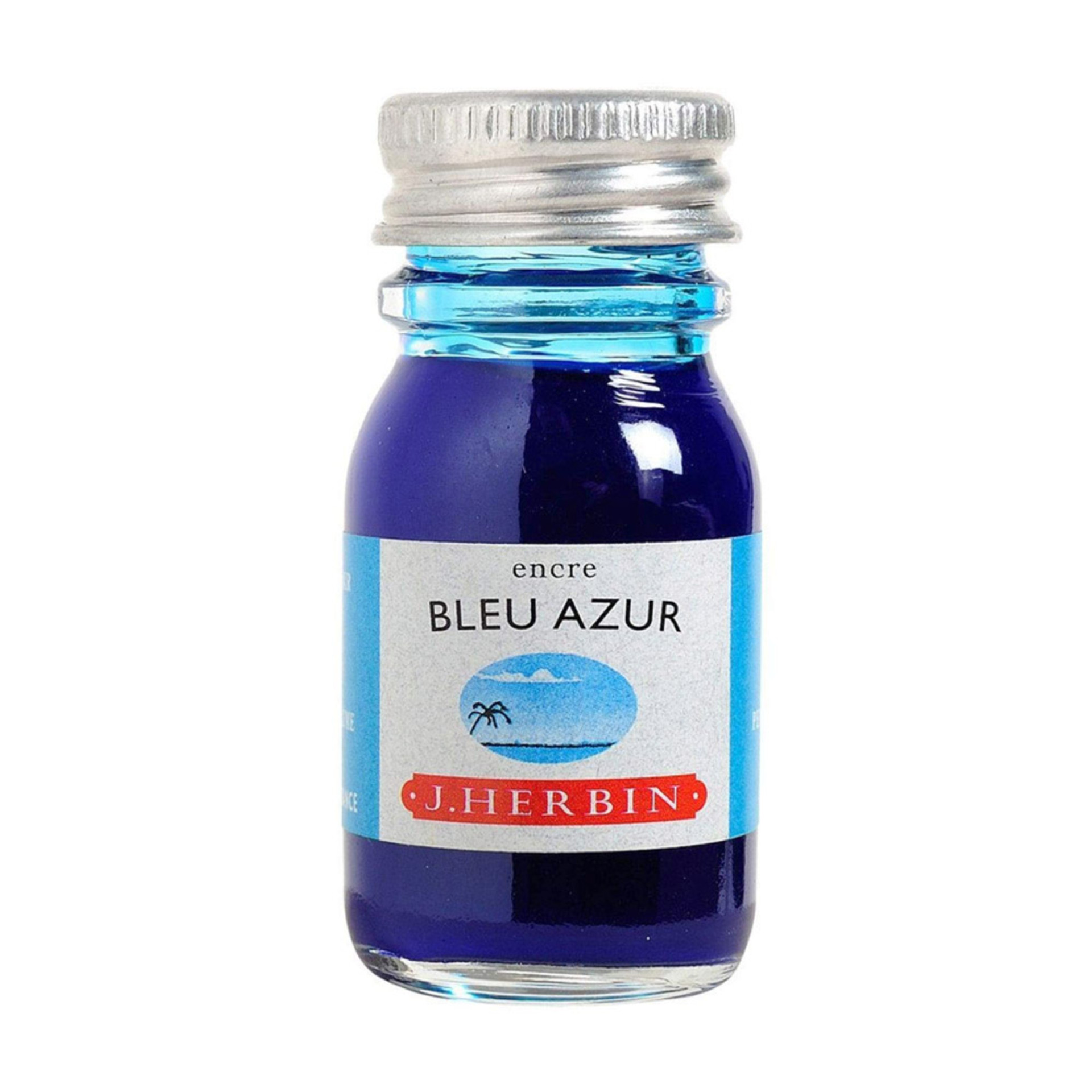 J.Herbin 10ml Fountain Pen Ink Bottle Azure