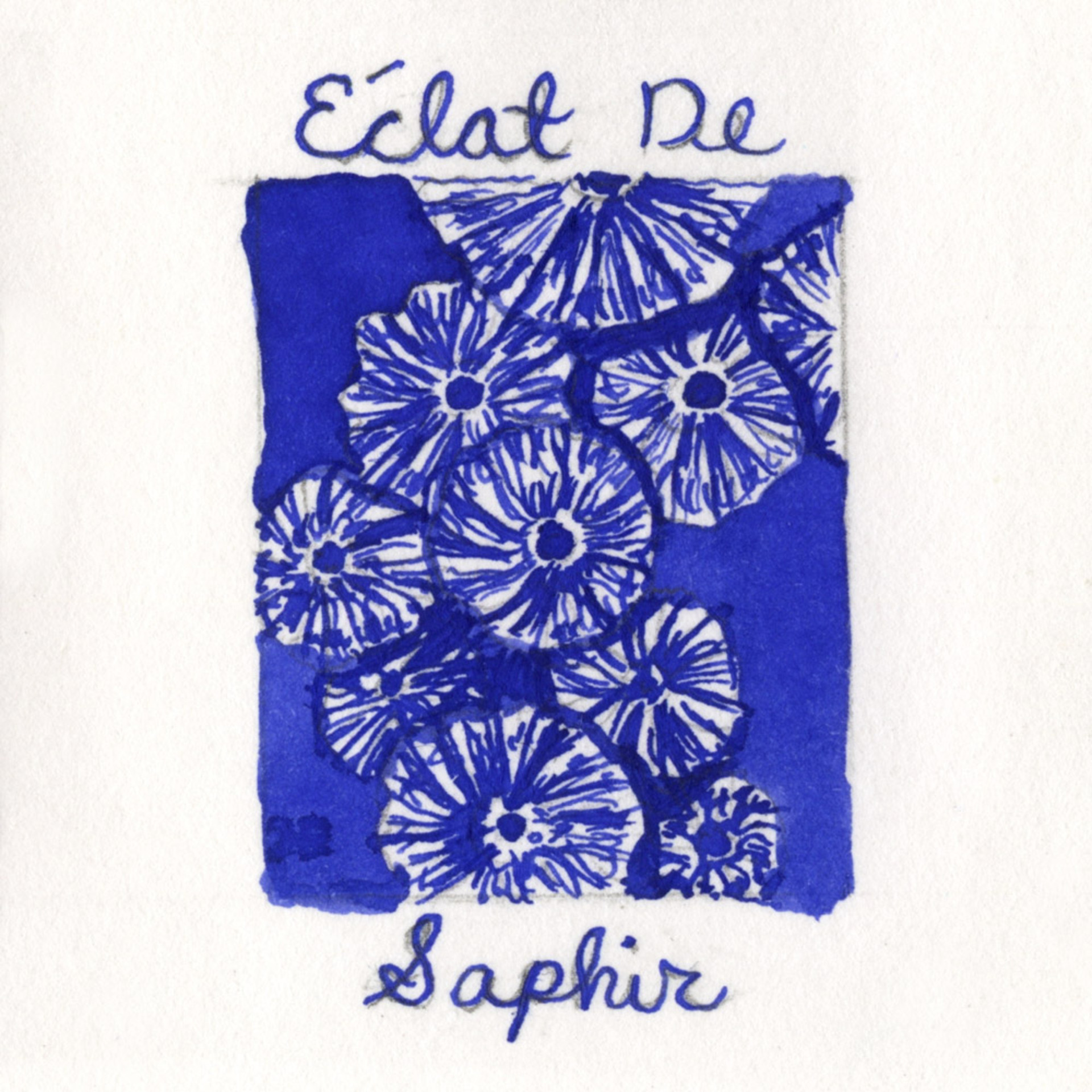 J.Herbin 10ml Fountain Pen Ink Eclat De Saphir