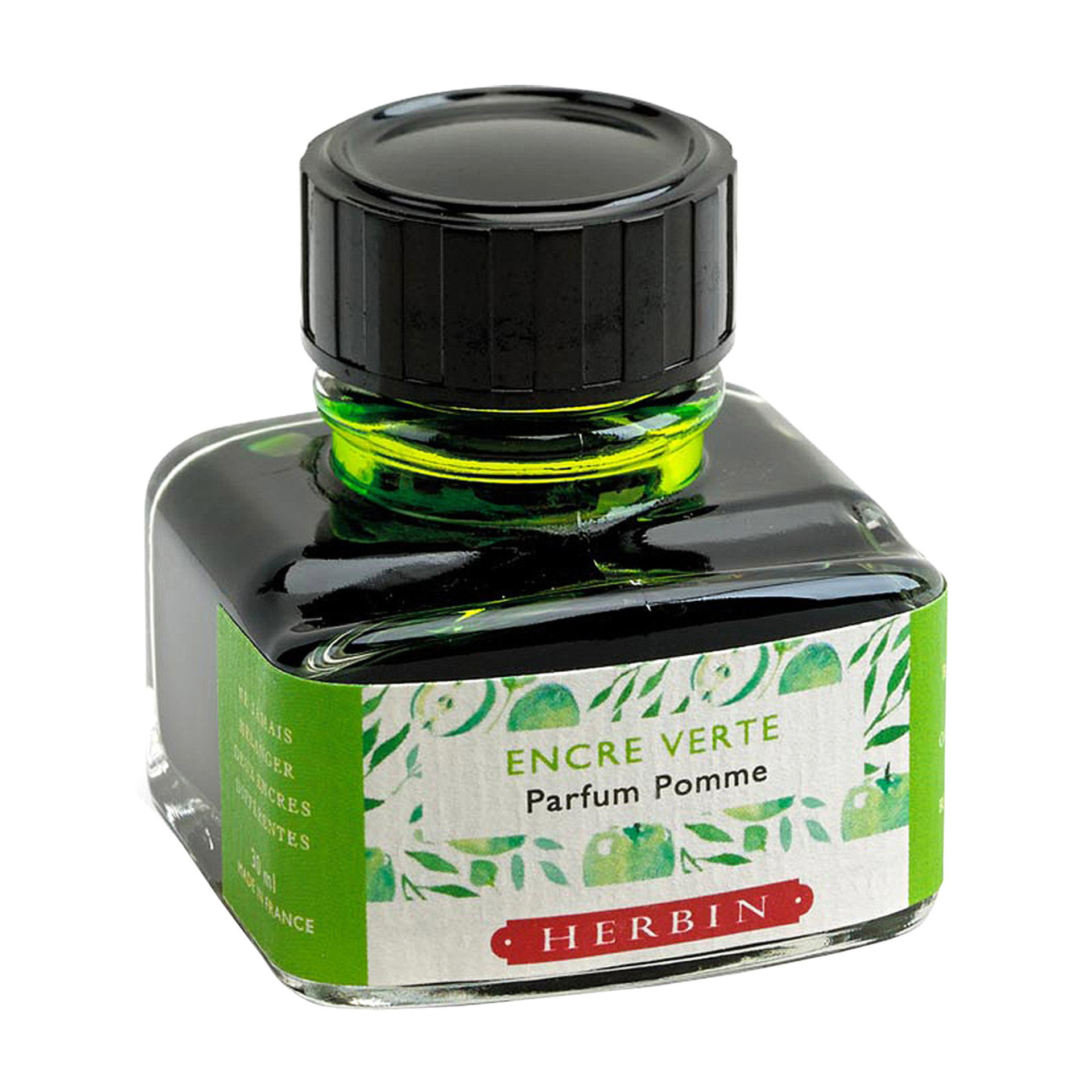 J. Herbin 30ml Scented Fountain Pen Ink Apple Green