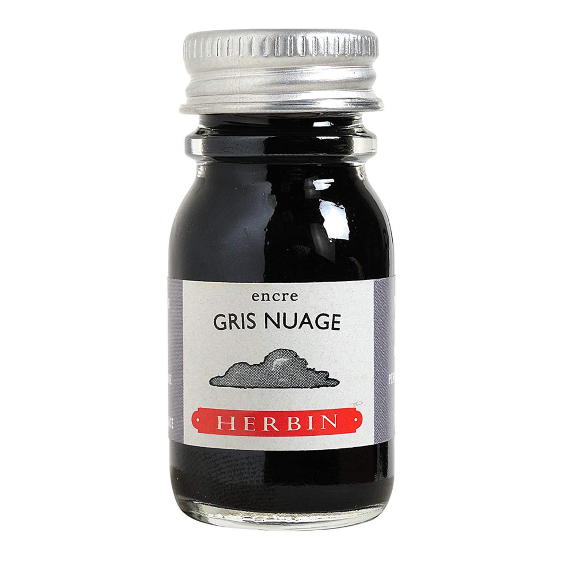 J. Herbin Gris Nuage 10ml Fountain Pen Ink Bottle