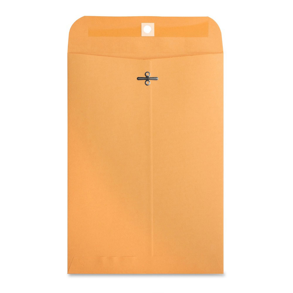 "Business Source Kraft 7.5""x10.5"" Heavy Duty Clasp Envelopes"