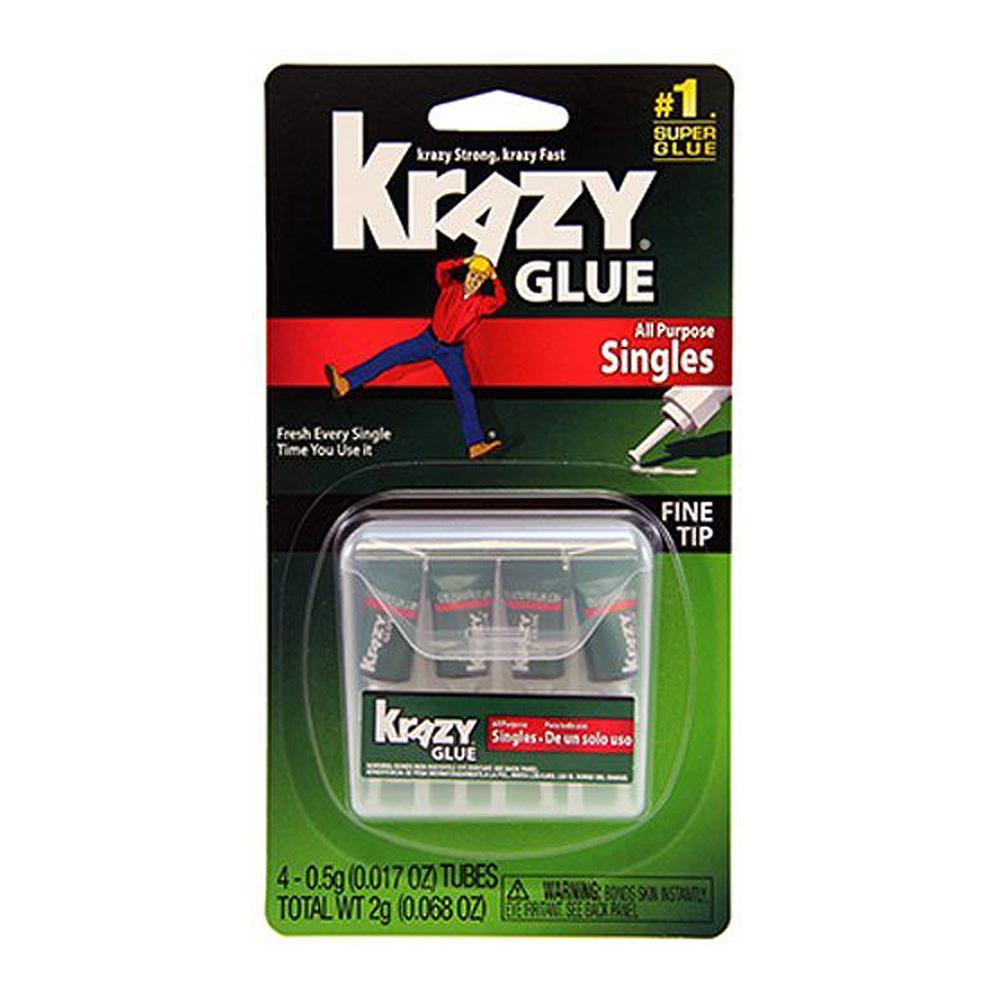 Krazy Glue All-Purpose Singles 4-Tube