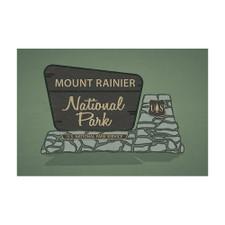 Lantern Press Mr. Rainier Park Sticker