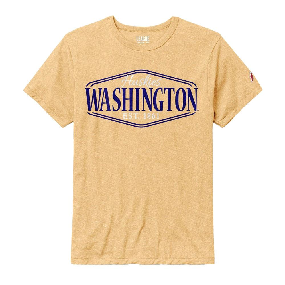 League Men's Huskies Washington Victory Falls Tee – Gold