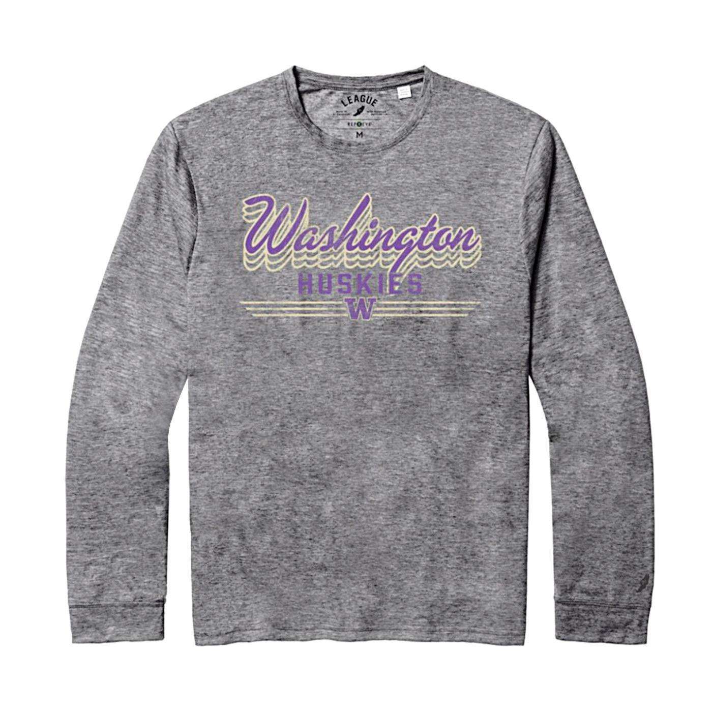 League Unisex Washington Huskies Reclaim Long Sleeved Tee