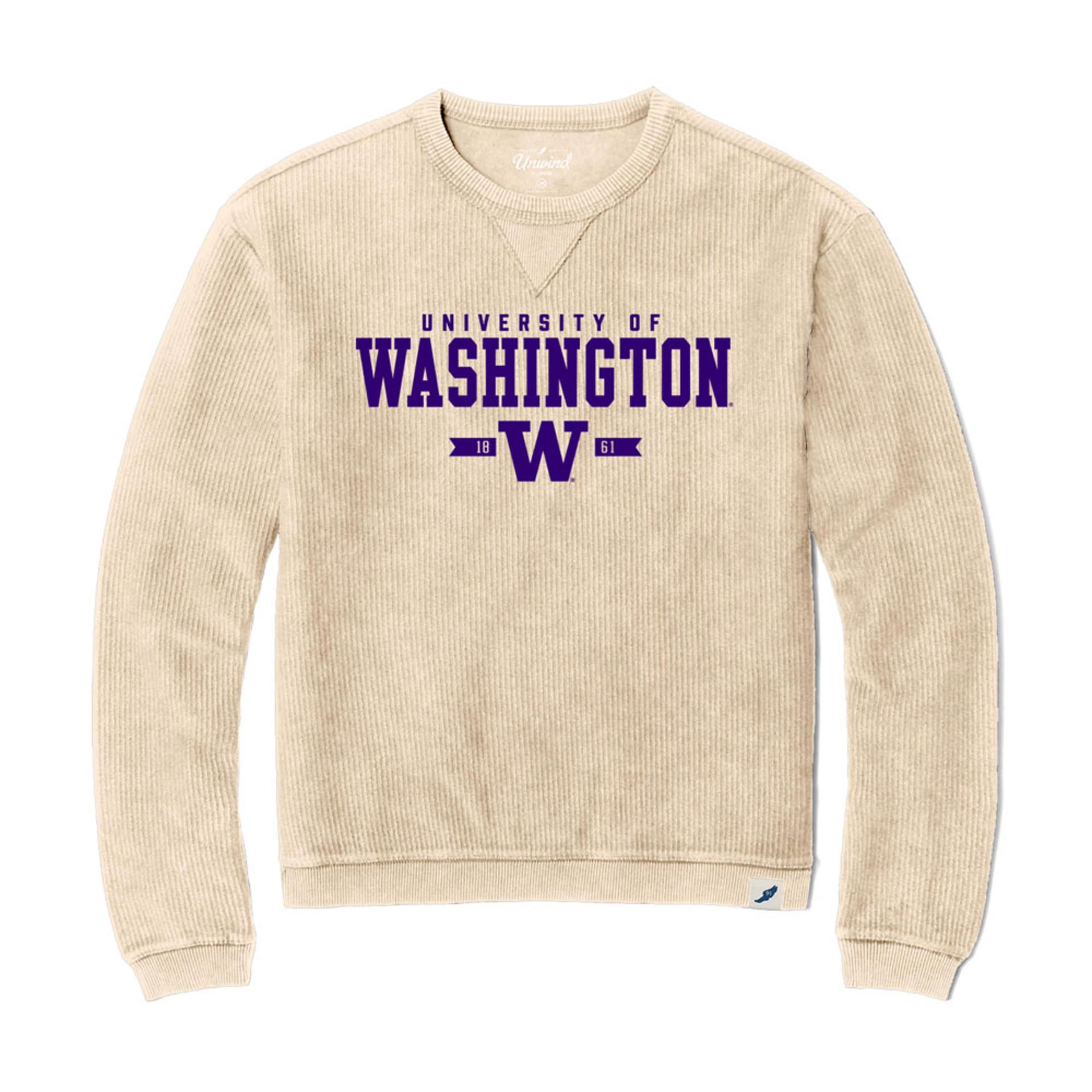 League Women's U of W Corduroy Sweater