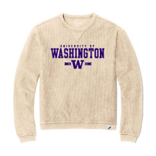 League Women's U of W Corduroy Sweater