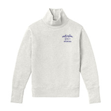 League Women's WA Pennant Embroidered Academy Turtleneck – White