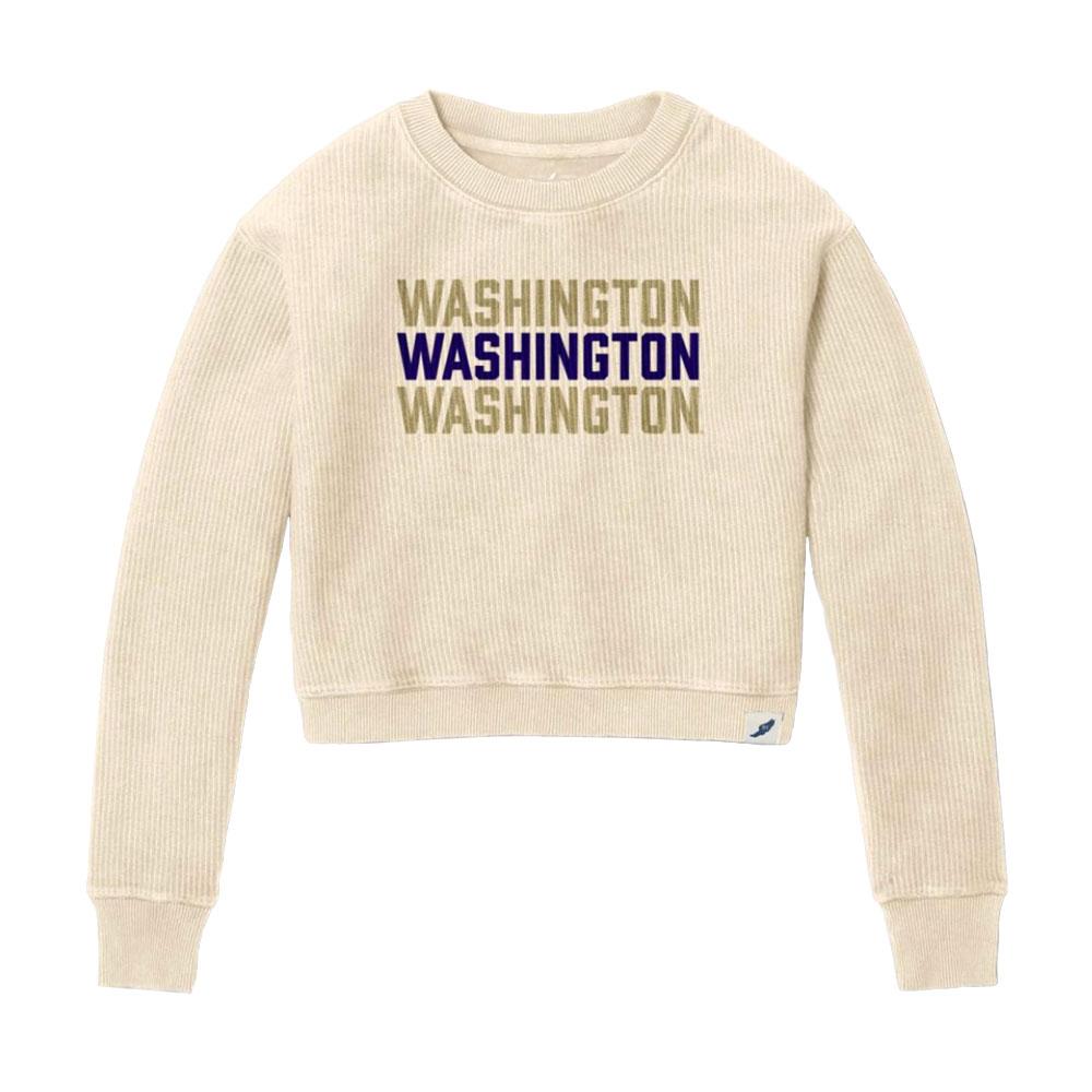 League Women's Washington Corduroy Crop Sweater