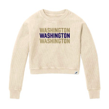 League Women's Washington Corduroy Crop Sweater
