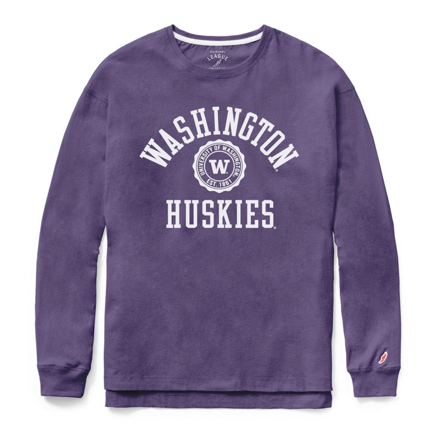 League Women's Washington Seal Long Sleeved Tee – Purple