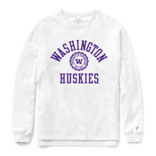 League Women's Washington Seal Long Sleeved Tee – White