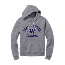 League Women's Washington W Huskies Victory Springs Hoodie – Gray