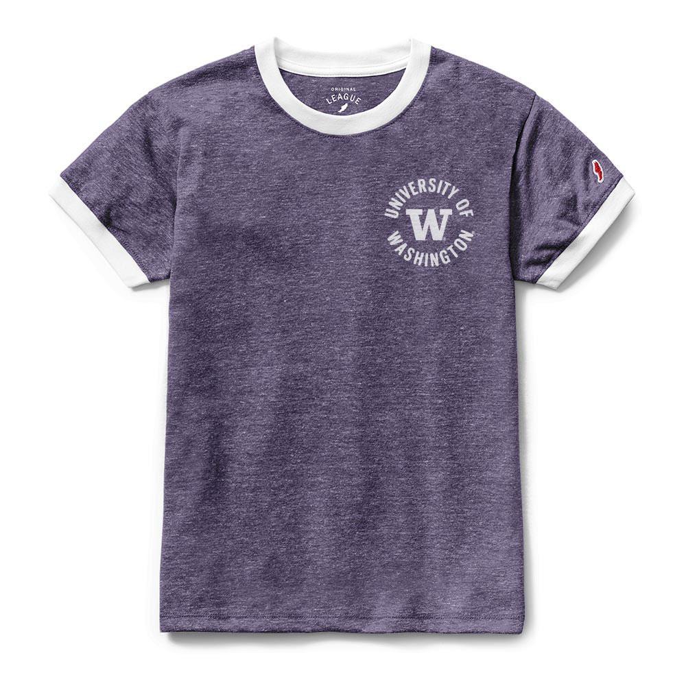 hot sale online d61e1 2b9f1 League Women s Washington W Ringer Phys Ed Tee