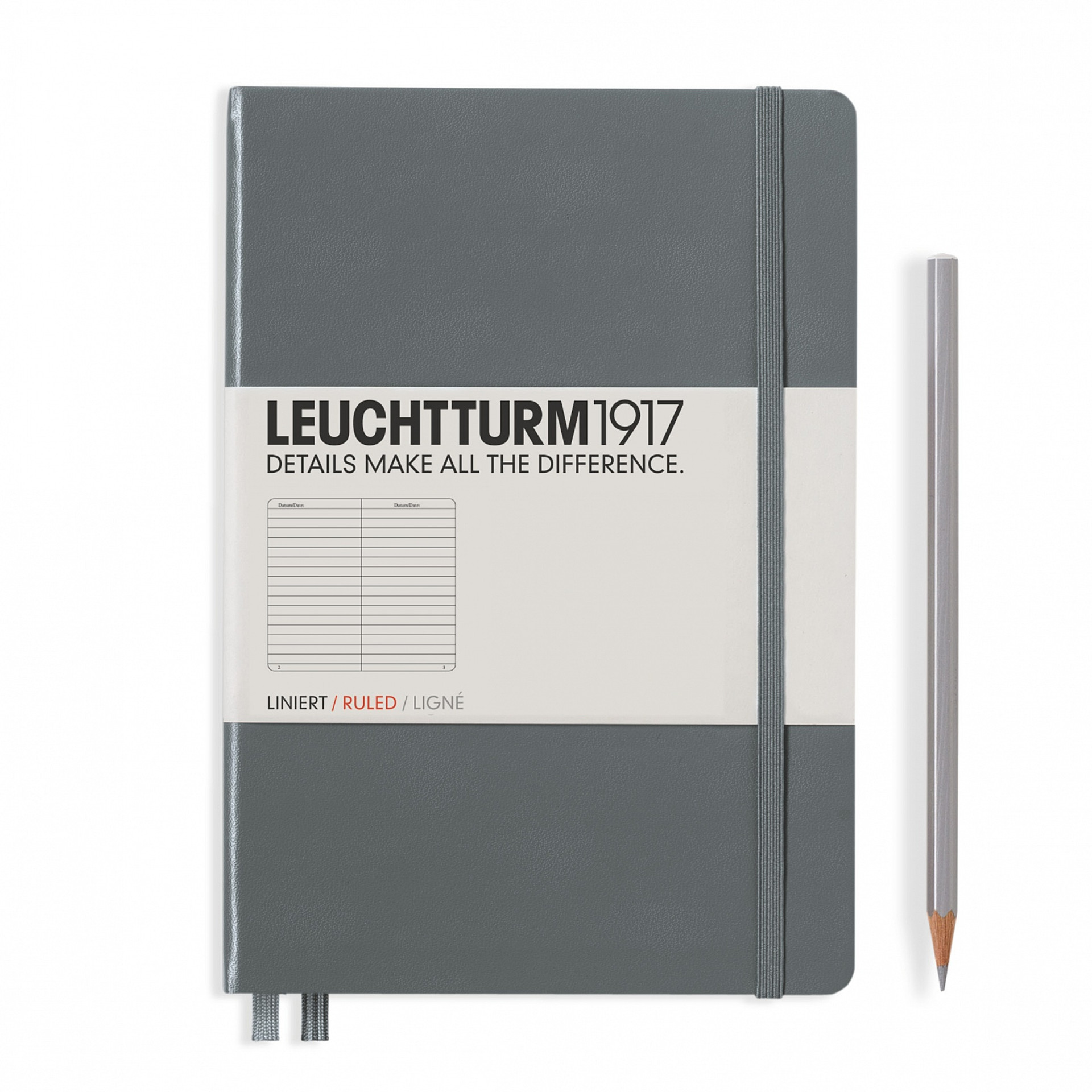 Leuchtturm 1917 A5 Medium Hardcover 249ct Anthracite Gray