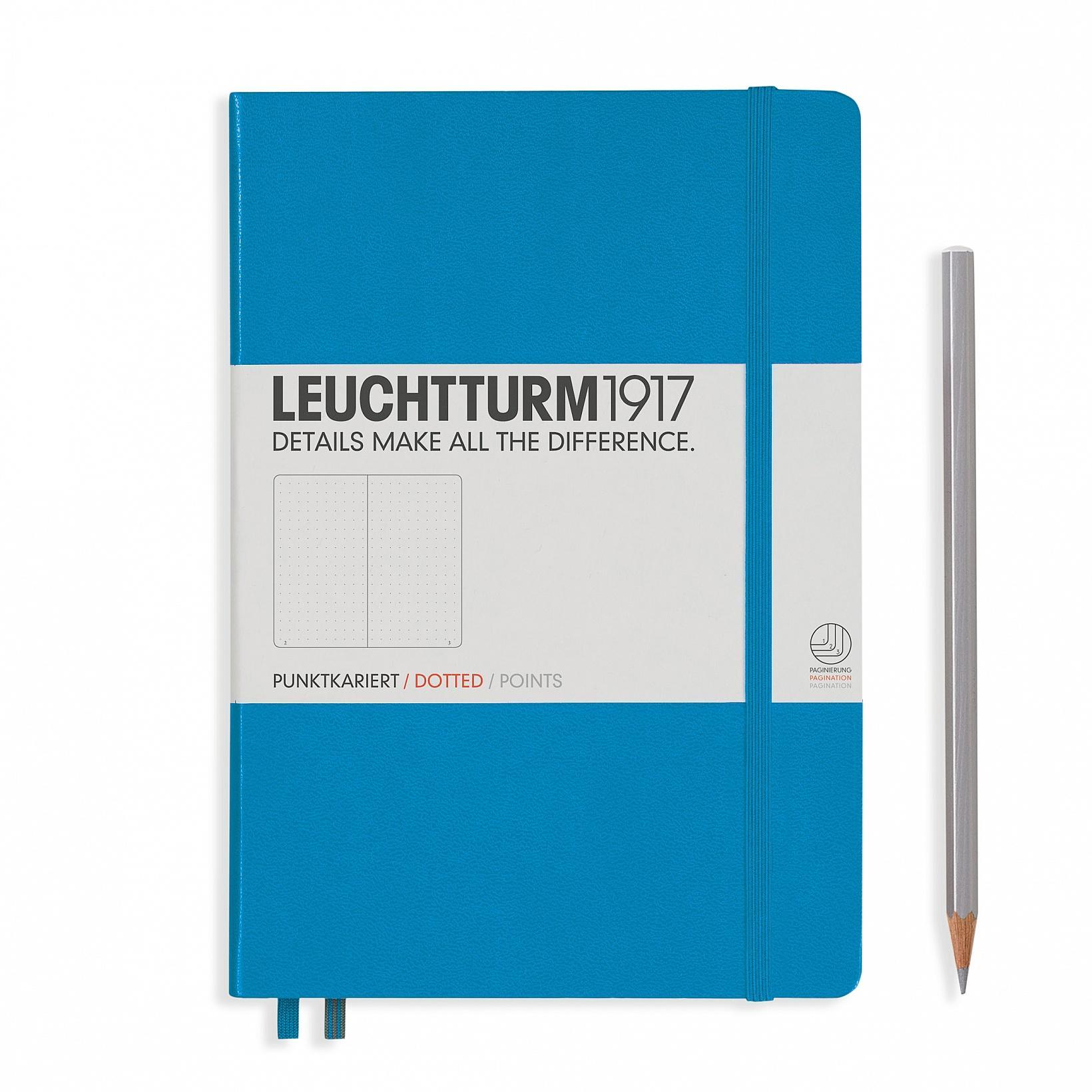 Leuchtturm 1917 A5 Medium Hardcover 249ct Azure Dotted