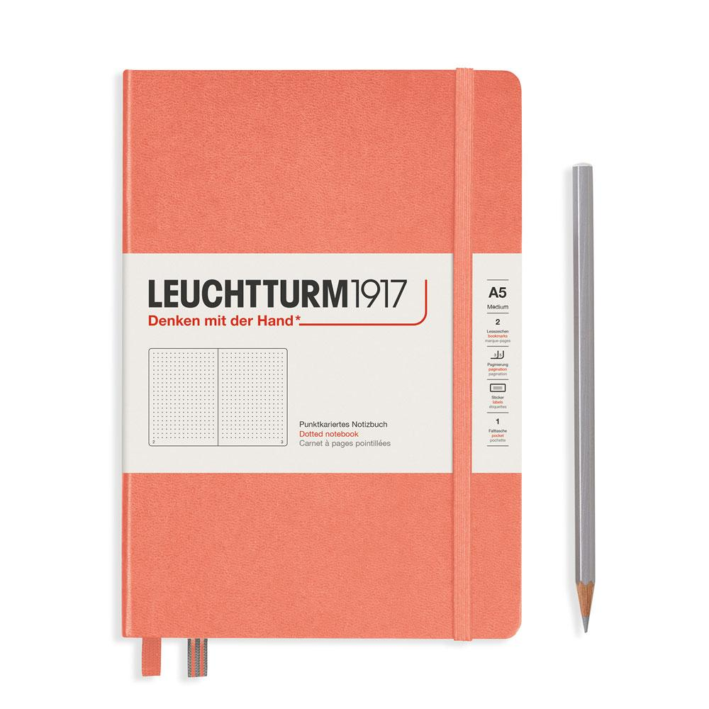 Leuchtturm 1917 A5 Medium Hardcover Notebook – Bellini – Dotted