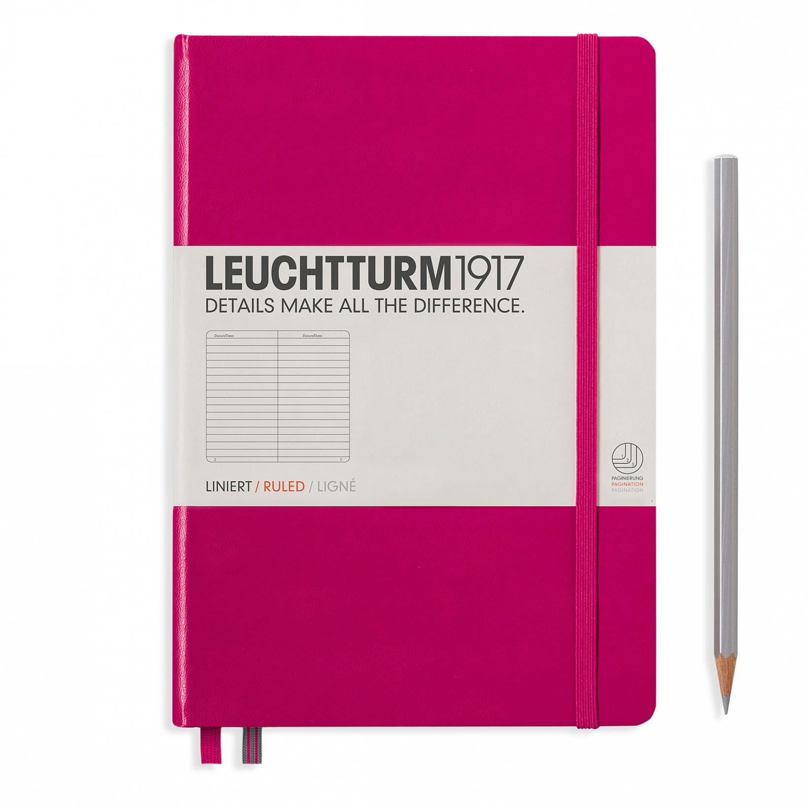 Leuchtturm 1917 A5 Medium Hardcover 249ct Berry|Ruled