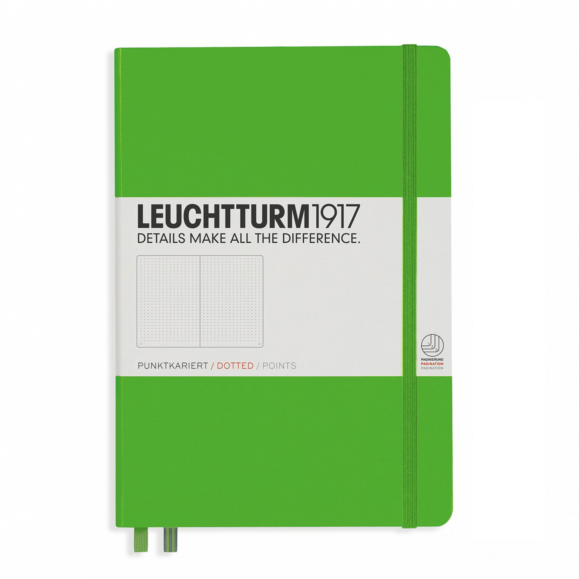 Leuchtturm 1917 A5 Medium Hardcover Notebook – Fresh Green – Dotted