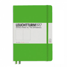 Leuchtturm 1917 A5 Medium Hardcover Notebook – Fresh Green – Plain