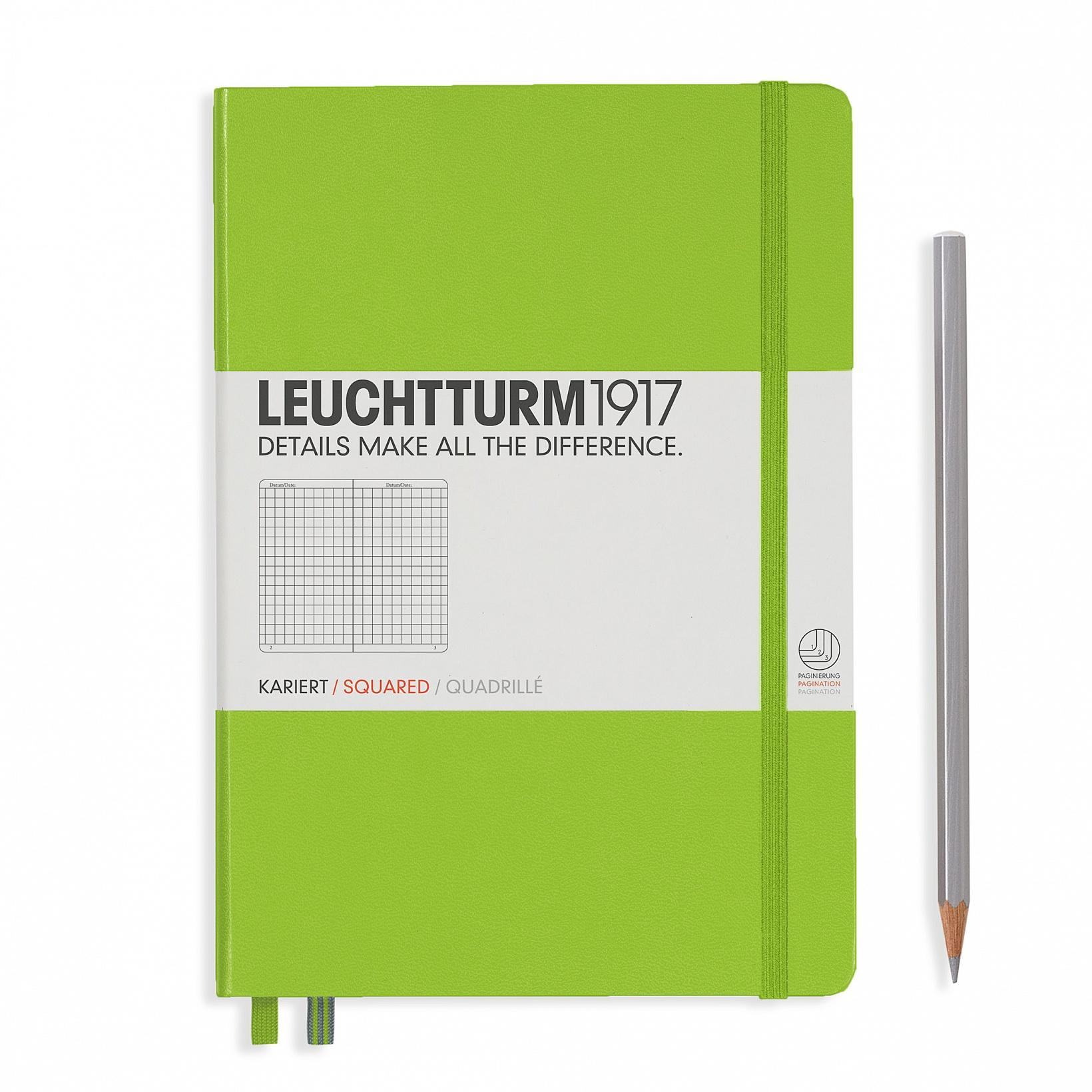 Leuchtturm 1917 A5 Medium Hardcover 249ct Lime Grid