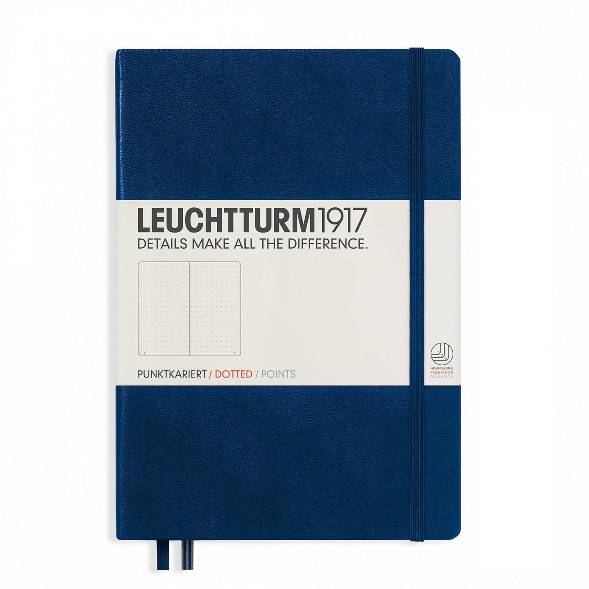 Leuchtturm 1917 A5 Medium Hardcover Notebook – Navy – Dotted