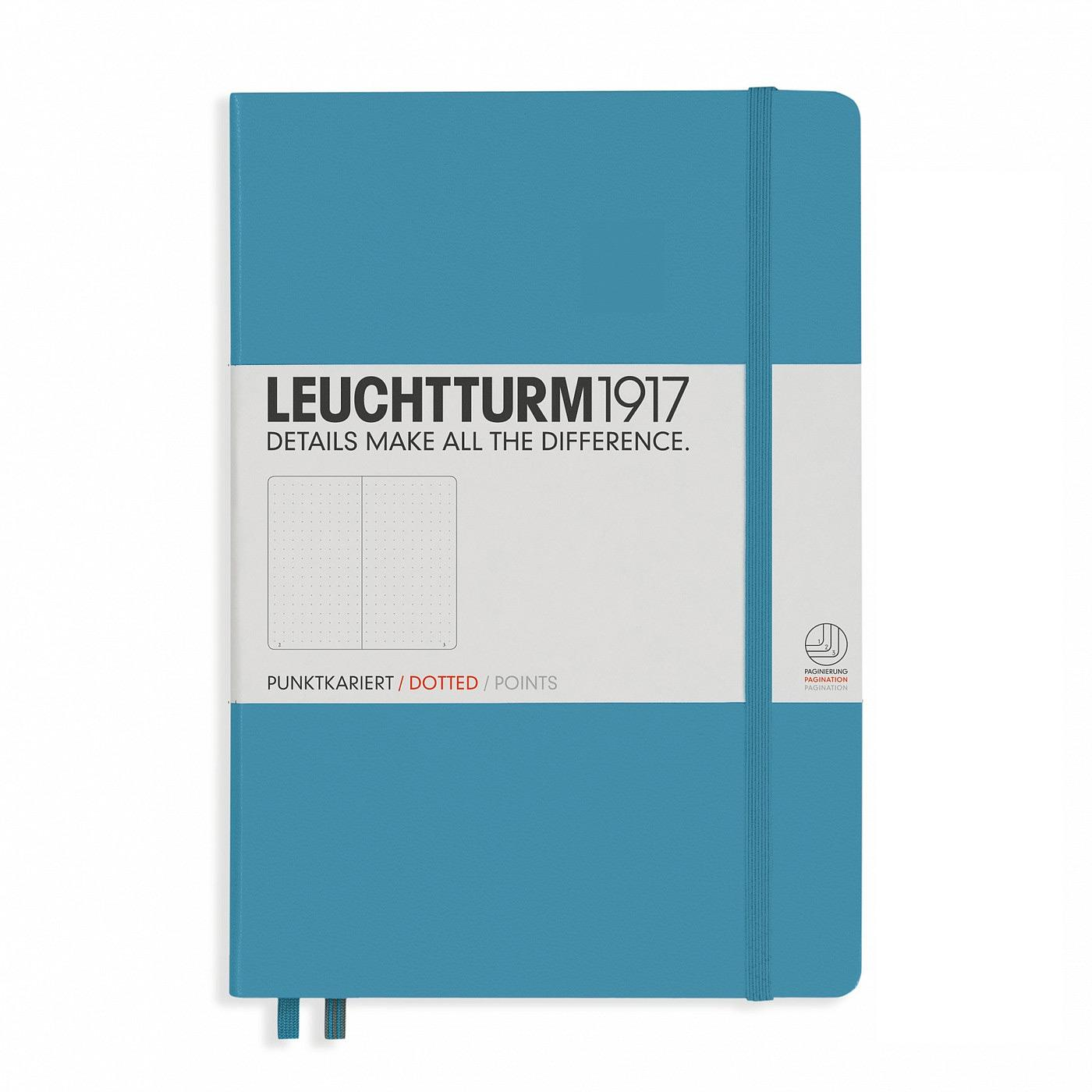 Leuchtturm 1917 A5 Medium Hardcover Notebook – Nordic Blue – Dotted