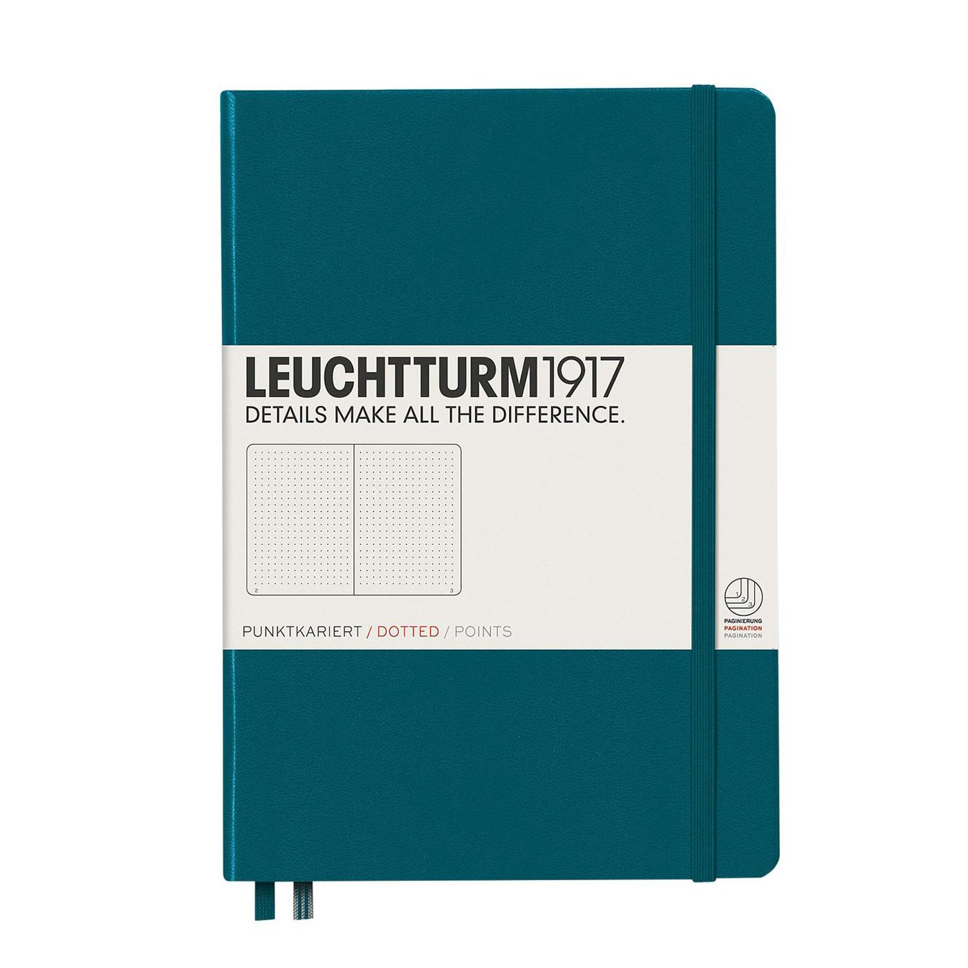 Leuchtturm 1917 A5 Medium Hardcover Notebook Pacific Green
