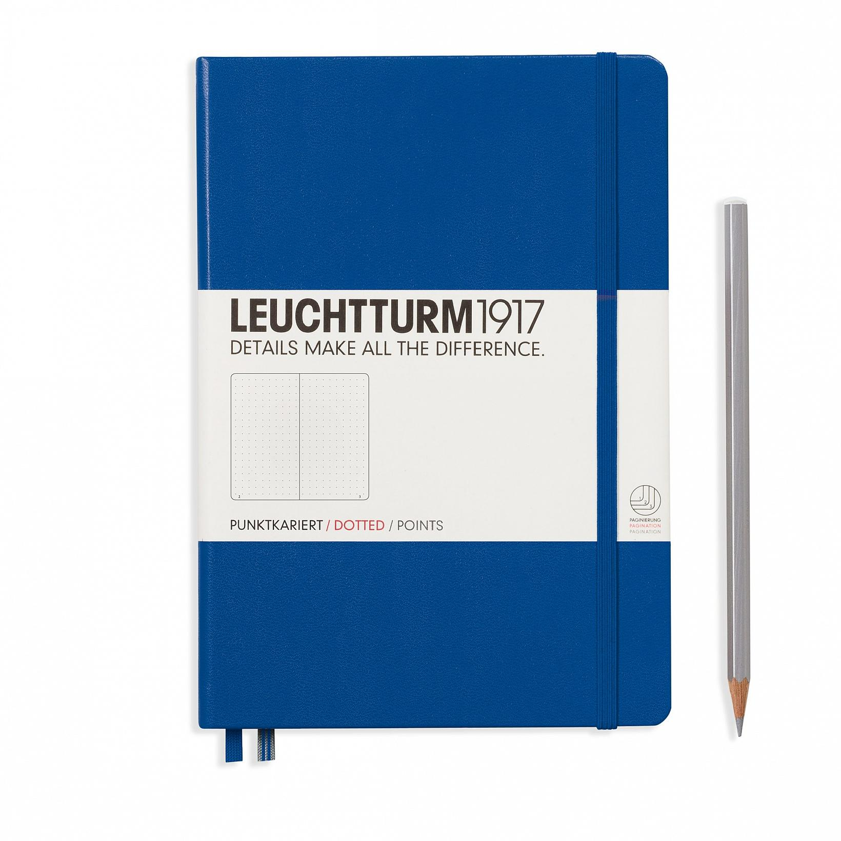 Leuchtturm 1917 A5 Medium Hardcover 249ct Royal Blue Dotted
