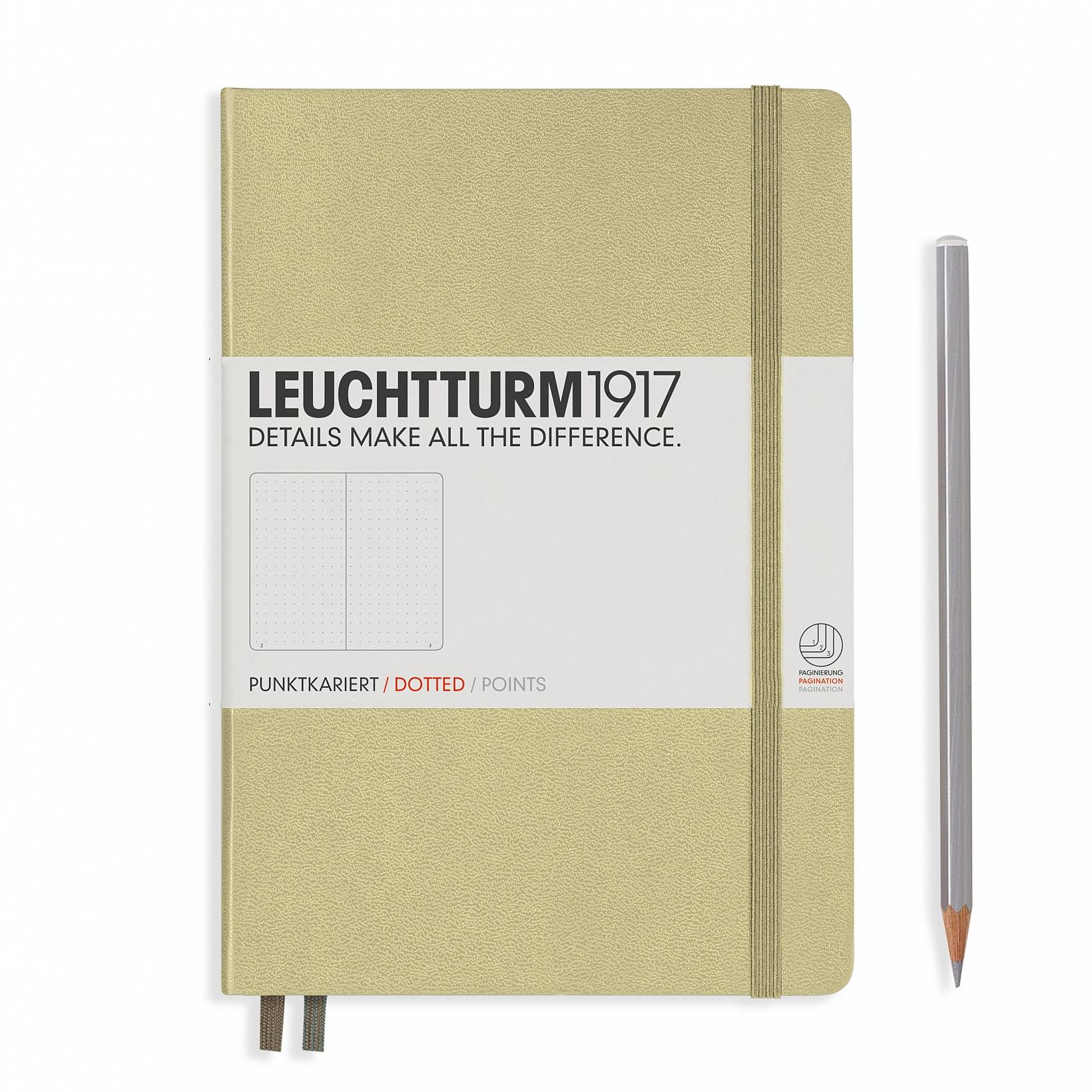 Leuchtturm 1917 A5 Medium Hardcover 249ct Sand Dotted