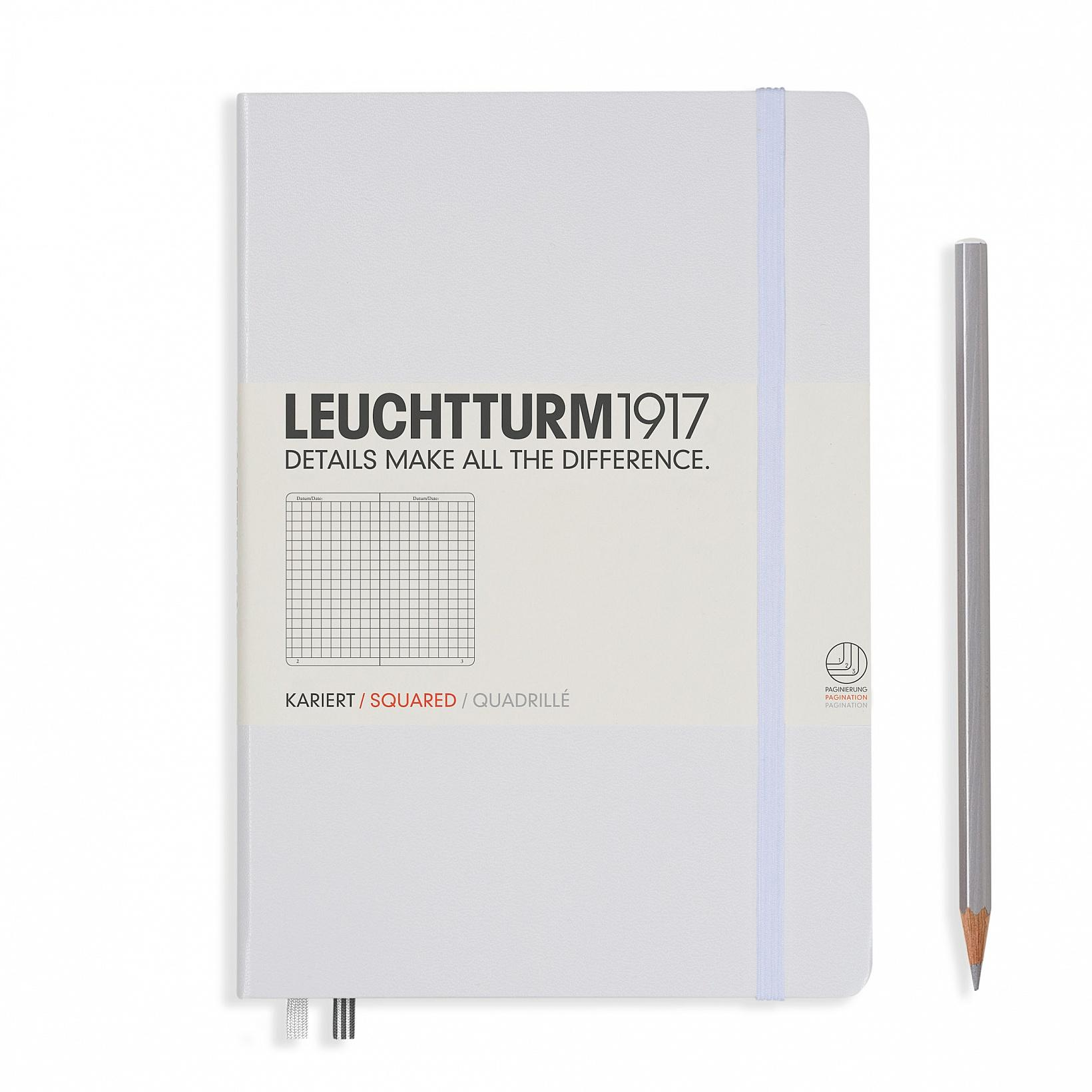 Leuchtturm 1917 A5 Medium Hardcover 249ct White Grid