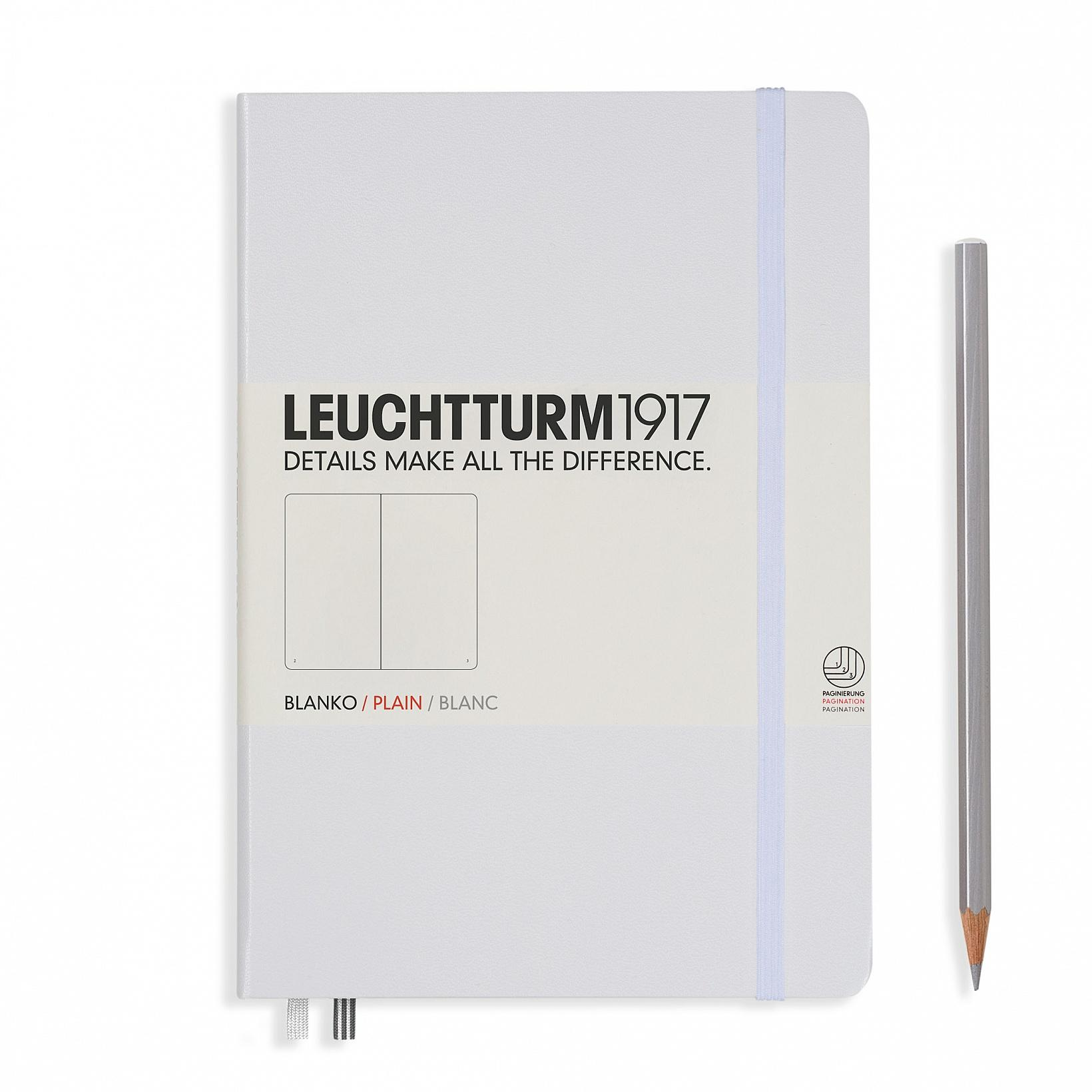 Leuchtturm 1917 A5 Medium Hardcover 249ct White Plain