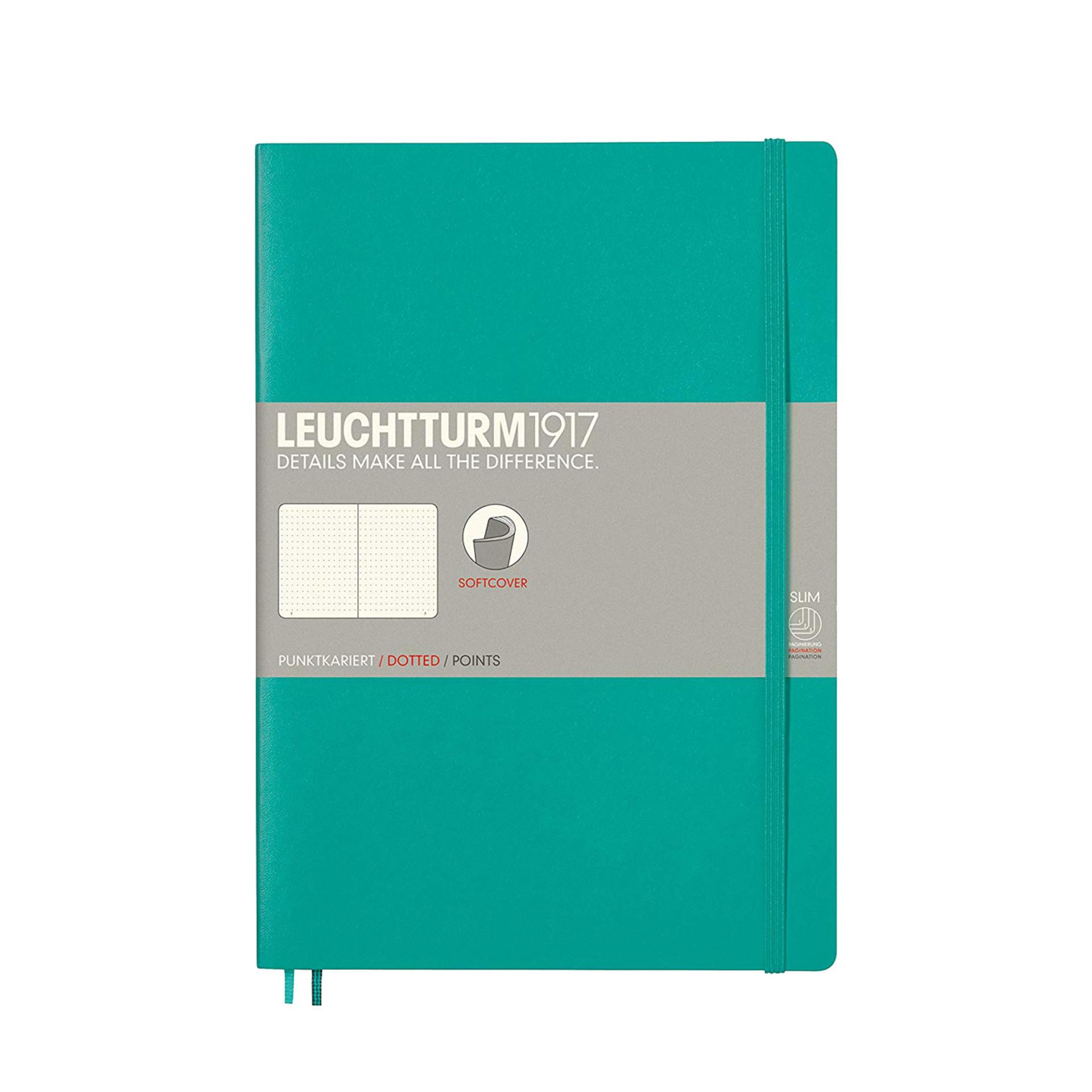 Leuchtturm 1917 B5 Softcover Composition Notebook Emerald Dotted