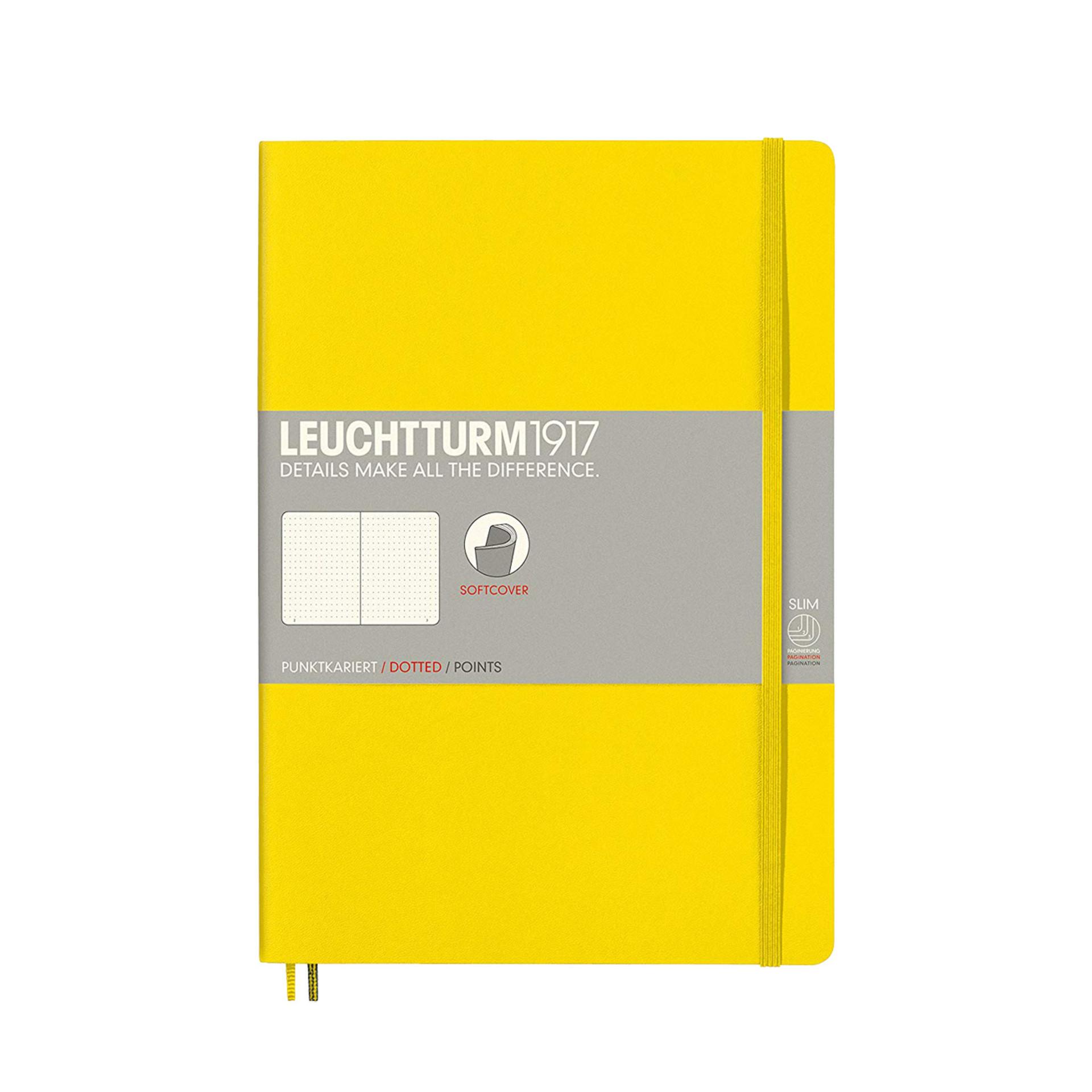 Leuchtturm 1917 B5 Softcover Composition Notebook Lemon Dotted