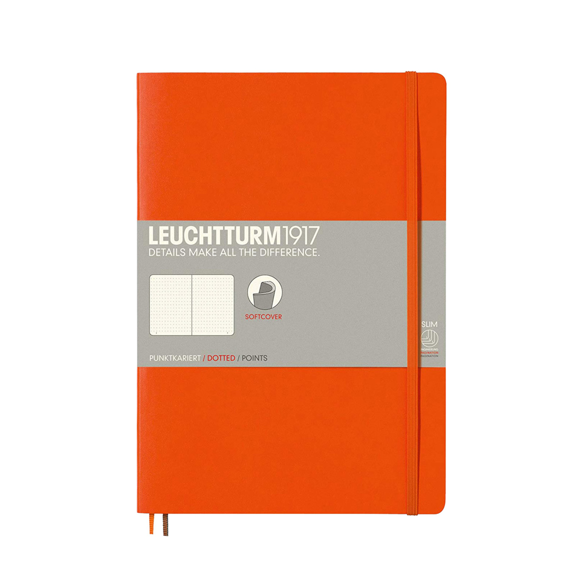 Leuchtturm 1917 B5 Softcover Composition Notebook Orange Dotted