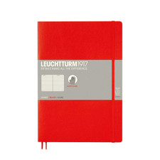 Leuchtturm 1917 B5 Softcover Composition Notebook Red Ruled