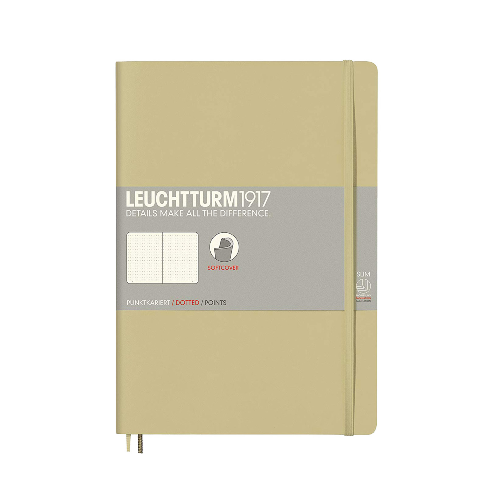 Leuchtturm 1917 B5 Softcover Composition Notebook Sand Dotted