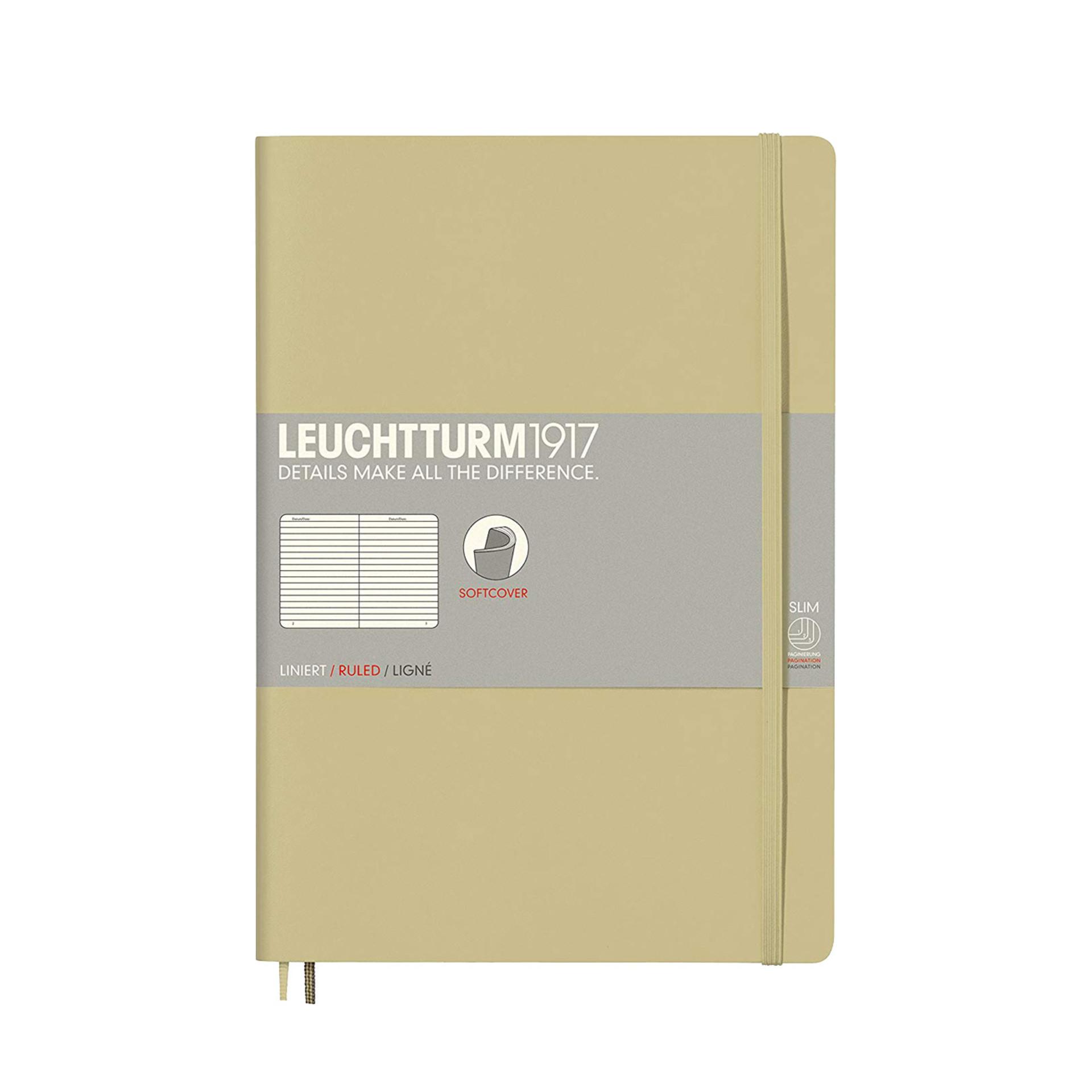Leuchtturm 1917 B5 Softcover Composition Notebook Sand Ruled