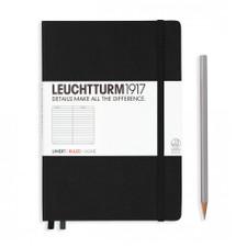 Leuchtturm 1917 Black Ex Libris A5 Medium Hardcover Reading Journal 252ct