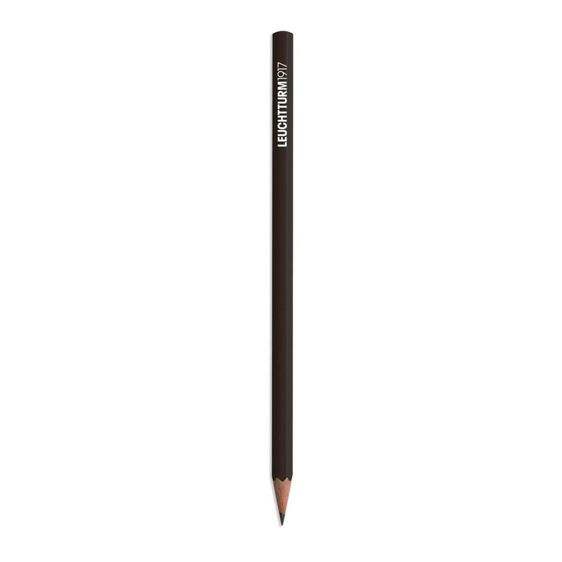 Leuchtturm 1917 Black HB Lead Woodcase Pencil – Black
